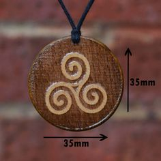 Ancient Celtic Triskele TriskelionPendant/Necklace by TrendySnake