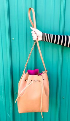 Mansur Gavriel bucket bag in Cammello Dolly - bag perfect for spring, summer, winter, and fall; designer handbags, designer bags, handbags designer