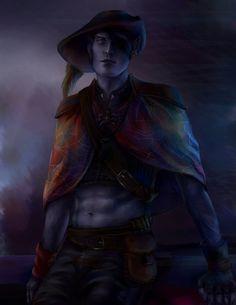 Jarlaxle Baenre by AnnaHelme on DeviantArt Elves Fantasy, Fantasy Rpg, Medieval Fantasy, Fantasy Artwork, Dark Fantasy, D D Characters, Fantasy Characters, Character Portraits, Character Drawing