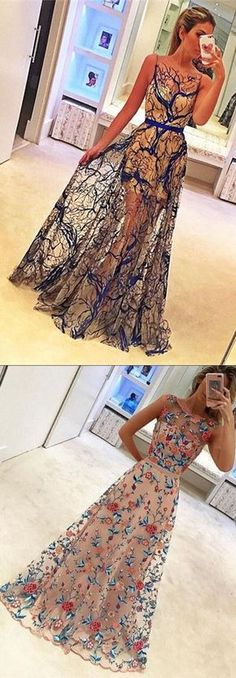 2017 prom dresses, chic long prom party dresses, cheap elegant evening dresses, prom dresses with beautiful appliques