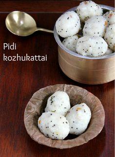 Pidi Kozhukattai (Brown Rice & Coconut Dumplings)