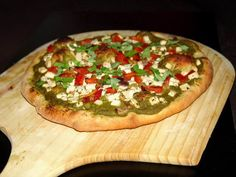 Пицца с итальянским соусом песто | Добрые кулинарные рецепты