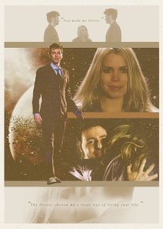 Image shared by We are Infinite. Find images and videos about doctor who, david tennant and rose tyler on We Heart It - the app to get lost in what you love. Doctor Who 10, 10th Doctor, Rose And The Doctor, Billie Piper, Don't Blink, Rose Tyler, Torchwood, Geronimo, Bad Wolf