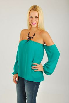 One of our best selling tops. Be sassy without being over the top. This style is cute to dress up with shorts or skinny jeans. Add a statement necklace and you are good to go. Tube top with attached drape sleeves. Semi sheer top that is lined. Made of 100% polyester. Marissa is 5,5 tall […]