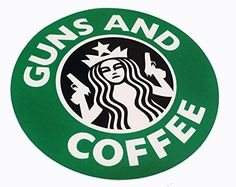 The US MADE Official Tactical Guns and Coffee 3m Vinyl Decal Sticker Morale Military Starbucks Empire Tactical http://www.amazon.com/dp/B00UWFQ7NW/ref=cm_sw_r_pi_dp_GgNdvb06S7C8S