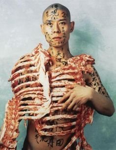 Zhang Huan, Meat & Text, 1998