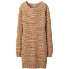 UNIQLO Women Heattech Knit Long Sleeve Dress found on Polyvore
