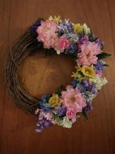 New spring wreath