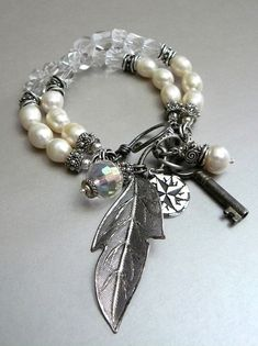 Modern Romance with Crystal Quartz Freshwater by pmdesigns09, $79.00