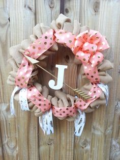 Gorgeous Burlap Wreath with Arrows and by GeorgiaPineCreations