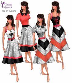 Creative Costuming & Designs CCD-672-A/B/C/D  DESCRIPTION: dress w/built in square briefs,  back is mirror image, (B&C) zipper back BASE PRICE: (A&B) $119.50 (C&D) $124....