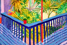 (UK) At the Tate Britain by David Hockney ). oil on canvas. David Hockney Tate, Scrapbooking Image, David Hockney Paintings, Pop Art Movement, Tate Britain, Art Projects For Adults, Art Vintage, Illustrations, Figure Painting