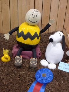 Charlie Brown, Snoopy and Woodstock 1st place decorated pumpkin at The Big E in 2010.