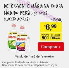 Promoções Continente - Detergente Máquina Roupa Líquido Persil