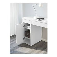IKEA MICKE desk Drawer stops prevent the drawers from being pulled out too far. Ikea Micke, Micke Desk, Teen Room Decor, Bedroom Decor, Bedroom Ideas, White Desk Bedroom, Tv Unit Furniture Design, Decoration Ikea, Ikea Usa