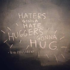 Haters gonna hate. Huggers gonna hug. kidpres: Let's make this the best #Socktober... | simple giving lab