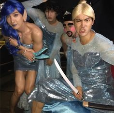 Super Junior, Best Cosplay Of 'Frozen' In History 'Muscular Elsa?' http://www.kpopstarz.com/articles/137587/20141118/super-junior-best-cosplay-of-frozen-in-history-muscular-elsa.htm