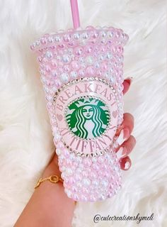Starbucks Art, Custom Starbucks Cup, Tumblr Photoshoot, Monogram Bedding, Best Small Business Ideas, Pink Christmas Decorations, Cute Water Bottles, Baby Pink Aesthetic, Cute Cups