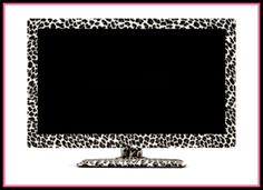 Leopard print TV.. I would totally get this