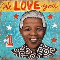 Nelson Mandela | Art by South African illustrator Minky Stapleton. http://www.minkystapleton.co.za
