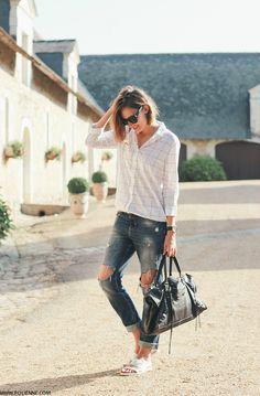 2014 WOMEN'SECRET shirt ⎪ ZARA jeans ⎪ MICHAEL KORS watch H&M pool slides ⎪BALENCIAGA bag