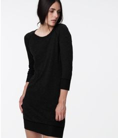 We are loving this Fleece Sweatshirt Dress in black that  James Perse just shipped us for the fall.   www.Chelseabella.com