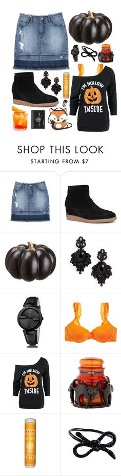 """""""Blake"""" by goingdigi ❤ liked on Polyvore featuring Bebe, Allstate Floral, Tasha, Gucci, STELLA McCARTNEY, Yankee Candle, Areaware and West Coast Jewelry"""