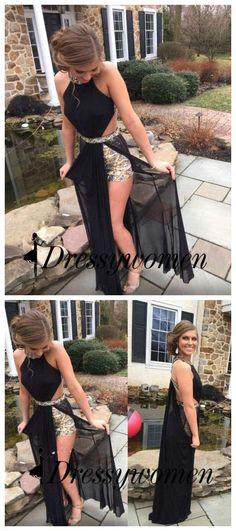 prom dress, 2016 prom dress, sexy prom dress, black prom dress