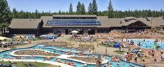 Sunriver Aquatic & Recreation Center - Aside from sunbathing and water play activities, SHARC's 22-acres of fun includes a tot pool and sand play area, cafe, picnic area, playground, basketball court, bocce ball court, year-round tubing hill, picnic pavilion and an outdoor amphitheater.