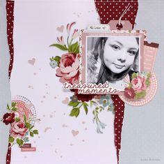 """""""Treasured Moments"""" layout By Anita Bownds DT Member Kaisercraft 'Secret Garden' Collection - Wendy Schultz ~ Scrapbook Pages Scrapbooking Layouts, Scrapbook Pages, General Crafts, Garden S, Love Cards, Clear Stamps, Balloons, Projects To Try, Card Making"""