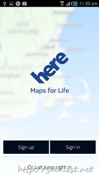 Nokia Here Maps for Android is available now