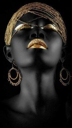 Fashion photography portrait people Ideas - New Site Black Art, Black Women Art, Black Gold, Black And White, Color Black, Art Women, African Beauty, African Art, African Women