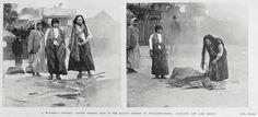 Showing Maori women at work on a Hangi - (Earth Oven) in the boilling springs at Whakarewarewa, Auckland Hot Lake Region 1901