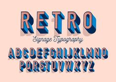 retro typography design vector by lyeyee on Creative Market - Hand Lettering Fonts, Creative Lettering, Vintage Typography, Typography Fonts, Japanese Typography, Vintage Fonts, Vintage Graphic, Logos Retro, Retro Font