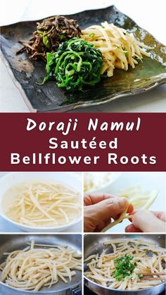 A healthy Korean side dish made with bell flower roots! It's a classic side dish that's commonly served on traditional holidays.