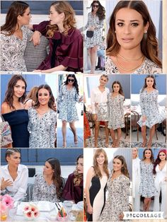 When it comes to style she usually comes out smelling of roses. And Lea Michele did it again when she showed her slender frame in a floral gown at Glamour's Game Changers Lunch in Los Angeles on Wednesday. The Scream Queen star seemed in high spirits as she mingled with a cavalcade of fine fillies at the star-studded event.