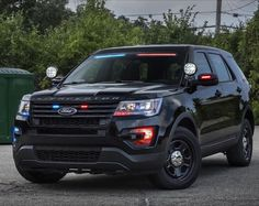 """The days when it was easy to spot a police car in your rearview mirror are quickly fleeting. The Ford Interceptor police vehicle will be available with a new factory-installed, low-profile – Ford calls it a """"no-profile"""" – integrated light bar located at the top of the windshield to provide a stealthier appearance for the vehicle. The light bar will eliminate the need for an aftermarket roof-mounted or interior-mounted light bar."""
