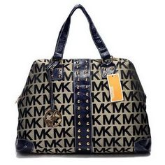 Michael Kors Logo-Print Large Navy Totes Outlet