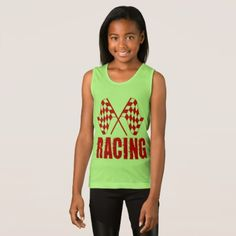 Two checkered racing flags for the competition win tank top - tap, personalize, buy right now!. t shirts come in 158 styles and colors for men women boys and girls. !#checkeredflag #competitionwinner #carracing #dragracing