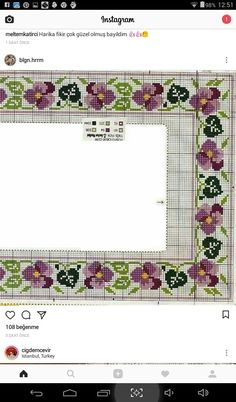 This Pin was discovered by Mür Cross Stitch Borders, Cross Stitch Rose, Cross Stitch Flowers, Cross Stitching, Cross Stitch Embroidery, Cross Stitch Patterns, Cross Stitch Needles, Small Leaf, Knitting Charts