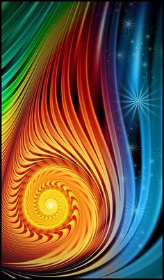 Art - colors - inspiration  - Rainbow colors #fractal