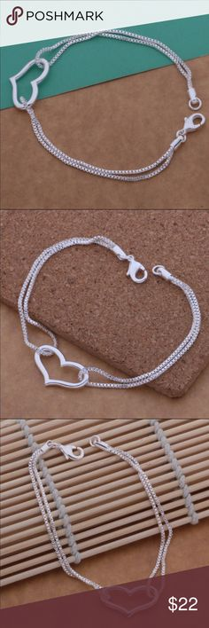 925 Sterling silver heart bracelet New, it's beautiful Jewelry Bracelets