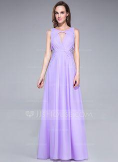 Prom Dresses - $136.99 - A-Line/Princess V-neck Floor-Length Chiffon Prom Dress With Ruffle Beading Sequins (017042357) http://jjshouse.com/A-Line-Princess-V-Neck-Floor-Length-Chiffon-Prom-Dress-With-Ruffle-Beading-Sequins-017042357-g42357?no_banner=1&utm_source=facebook&utm_medium=post&utm_campaign=6005941673279&utm_content=140411_14