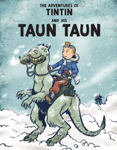 Benjamin Rivers snuck this illustration of Tintin on a Tauntaun into the comments section of Judge John Hodgman Verdict No. 152.
