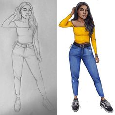 NEW YOUTUBE VIDEO ALERT ▶️ This time I wanted to give you some tips on how to draw full body silhouettes as many of you have been requesting this. I hope you'll enjoy the video, link in bio ☺️❤️