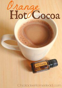 Orange Hot Cocoa - try organic cacao powder and coconut sugar for this unique recipe.