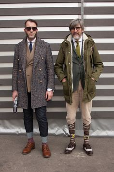 Smartened-up outdoor #menswear styling live from the #Pitti Uomo trade show in Florence WGSN street shot, Pitti Uomo autumn/winter 2014/15