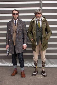 Smartened-up outdoor #menswear styling live from the #Pitti Uomo... | No:35530 | メンズファッションスナップ フリーク - 男の着こなし術は見て学べ。