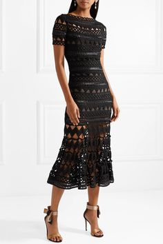 Oscar de la Renta   Guipure lace midi dress   NET-A-PORTER.COM