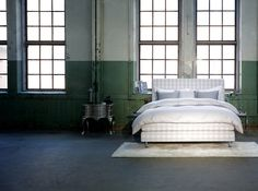 Nothing make a bedroom more luxurious than a Hastens limited edition platinum check bed, available at Chicago Luxury Beds.